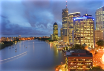 brisbane city evening