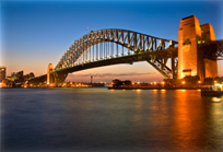 sydney harbour bridge twilight